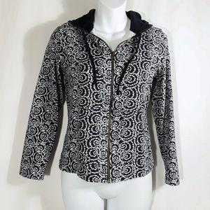 Liz Claiborne Sweatshirt Hoodie Jacket Zip Hooded